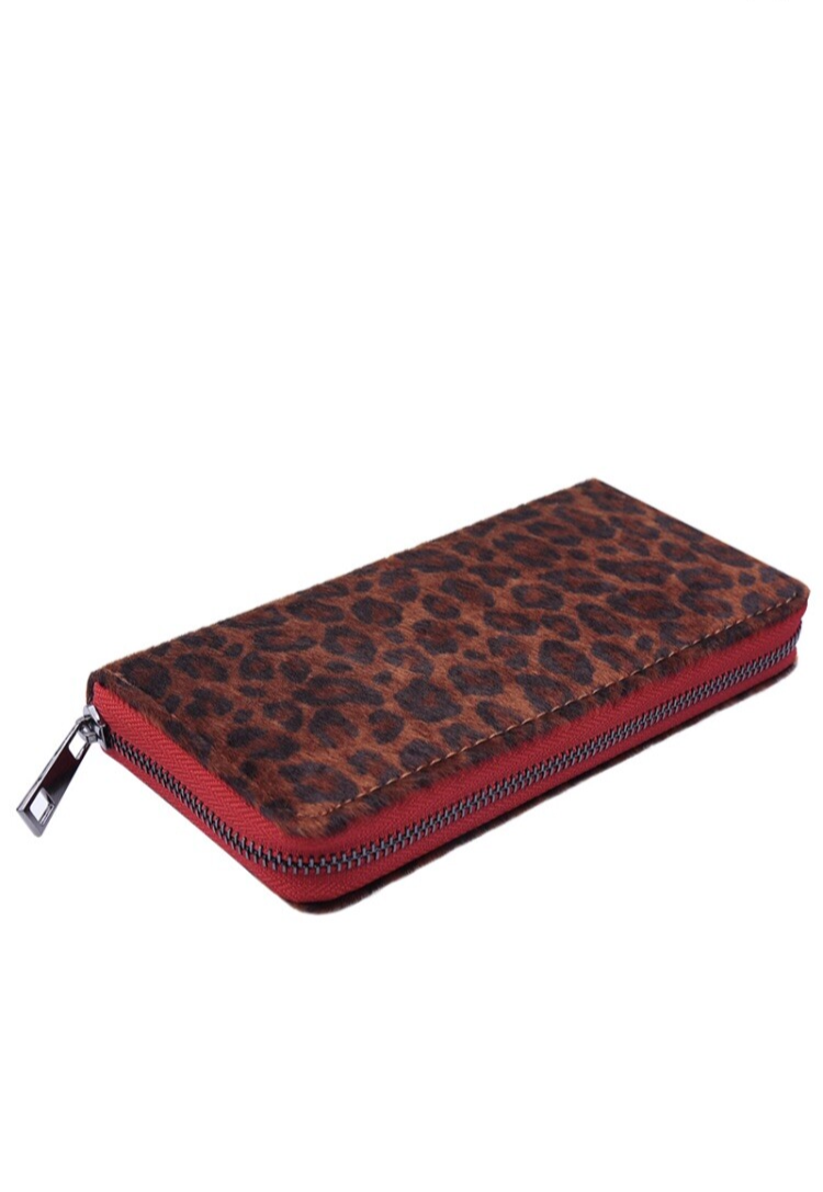 Wallet Leopard Red