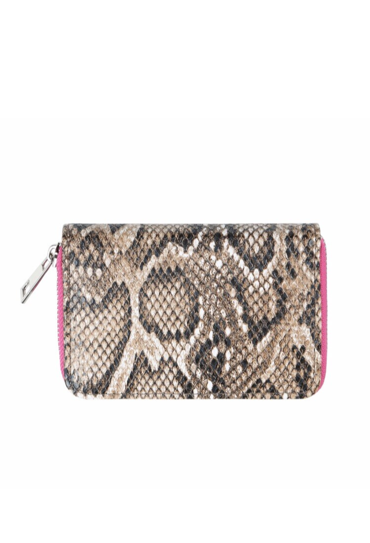 Wallet Pink Snake Small