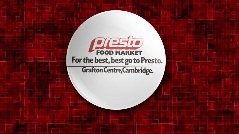 Presto Supermarket Cambridge Badge
