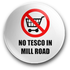 No Tesco In Mill Road Badge