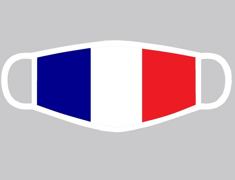 Masque de bouche tricolore france Polyester adulte