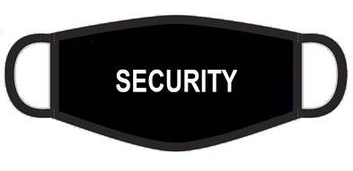 Masque bouche SECURITY noir Polyester adultes