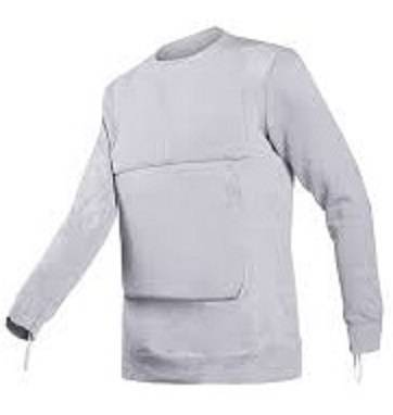 Tee shirt anti couteau Torskin gris 15 Joule Small