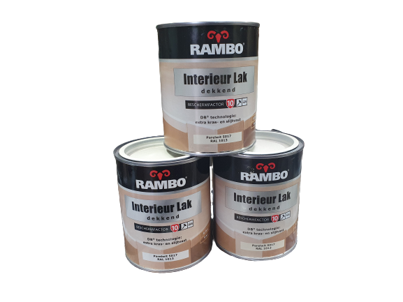 Rambo Interieurlak Dekkend Parelwit 750ml