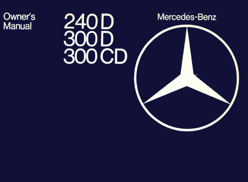 Mercedes-Benz W123 English 1979 Owners Manual [1235840697]