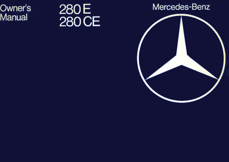 Mercedes-Benz W123 English 1981 Owners Manual [1235848197]