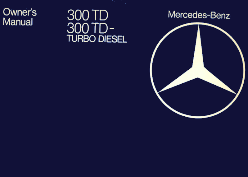 Mercedes-Benz W123 English 1981 Owners Manual [1235848297]