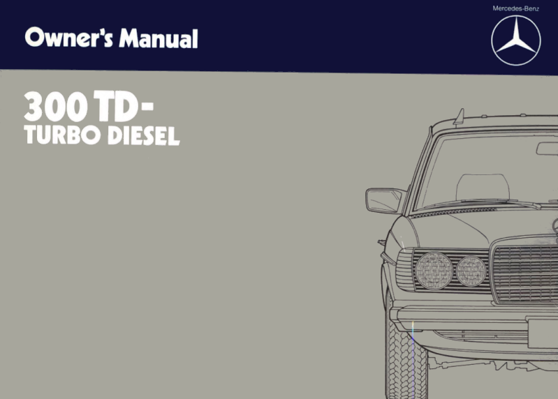 Mercedes-Benz W123 English 1984 Owners Manual [6550548013]