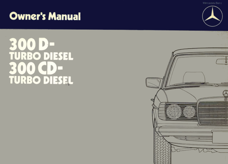 Mercedes-Benz W123 English 1985 Owners Manual [1235840983]
