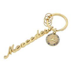 Mercedes-Benz Keychain Women Classic Yellow Gold / Blue Stainless Steel [PRO000564]