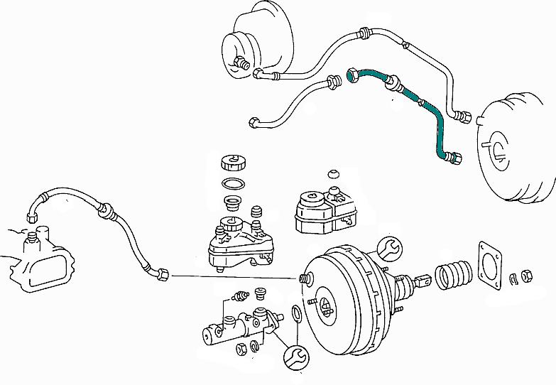 Mercedes-Benz Brake Line From Vacuum Pump To Brake Booster E Class (W123) [PRO000633]