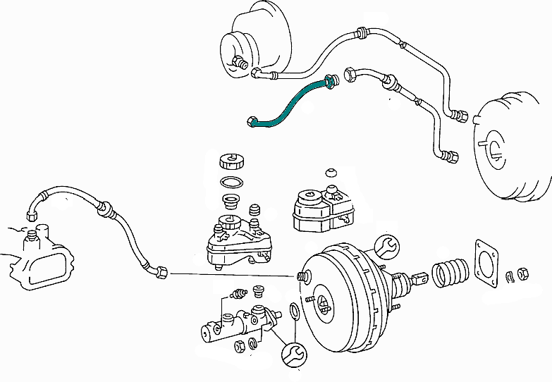 Mercedes-Benz Brake Line From Vacuum Pump To Brake Booster E Class (W123) [PRO000634]