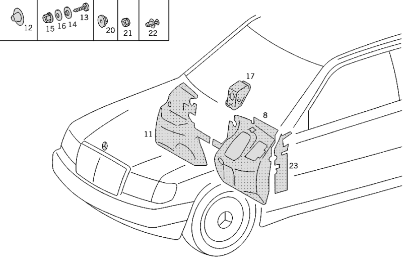 Insulation In Passenger And Luggage Compartment W124  [PRO001165]