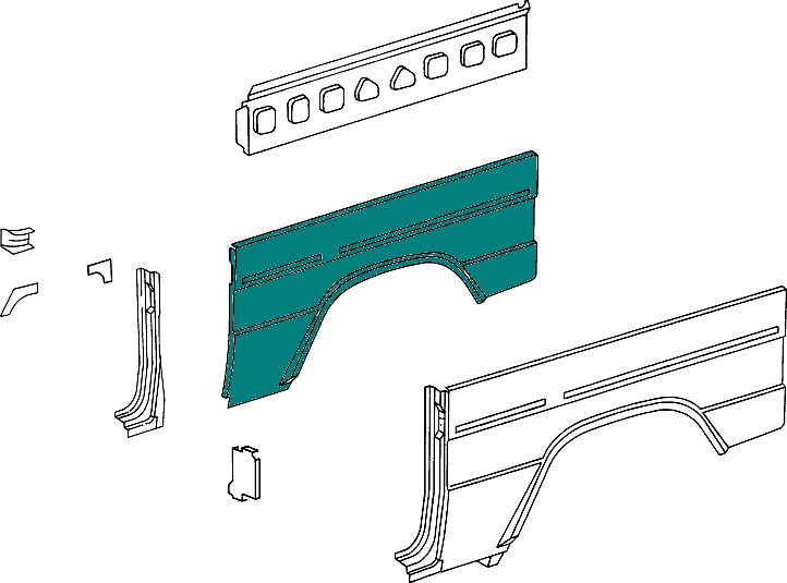 Mercedes-Benz Panneling Side Rear (Left Or Right) G-G Class (W460-W461) [PRO000373]