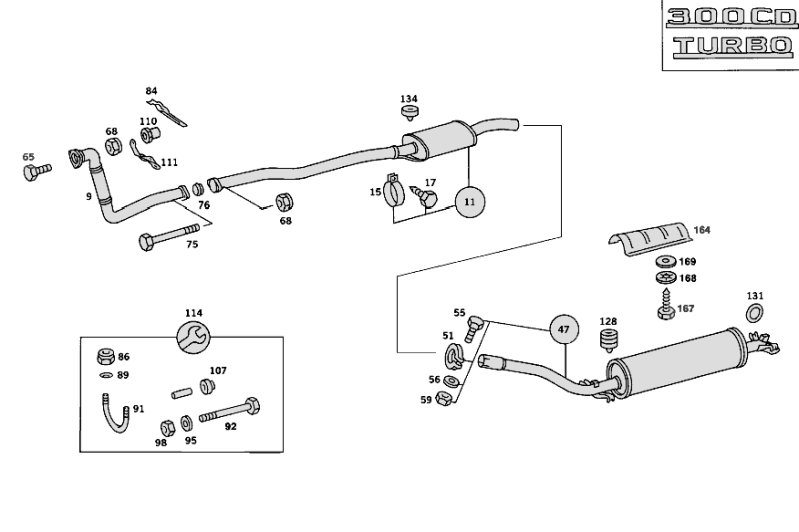 Exhaust System W123 [PRO000924]