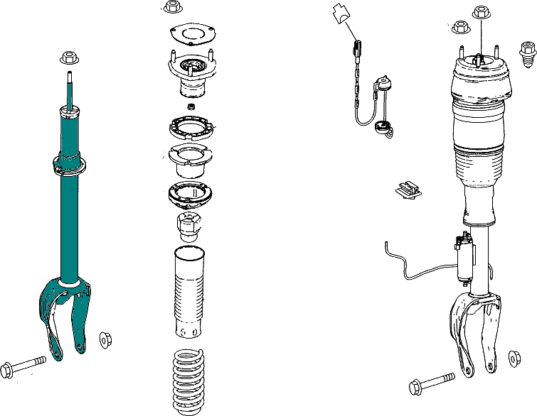 Mercedes-Benz Shock Absorber Front (Left / Right) [PRO000534]