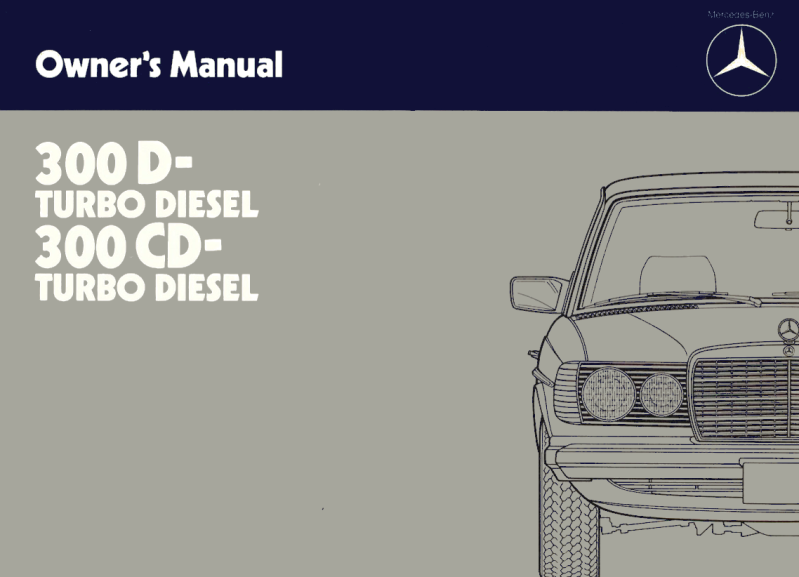 Mercedes-Benz W123 English 1984 Owners Manual [W1231984300]