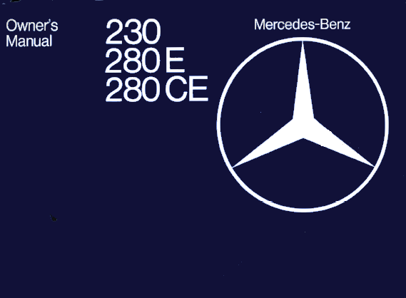 Mercedes-Benz W123 English 1978 Owners Manual [1235847196]