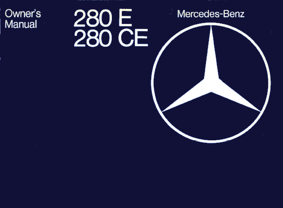 Mercedes-Benz W123 English 1979 Owners Manual [1235840797]