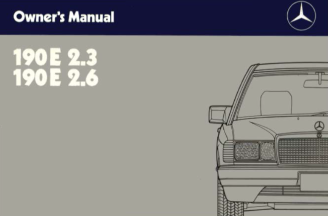 Mercedes-Benz W201 English 1987 Owners Manual [2015846996]