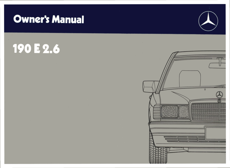 Mercedes-Benz W201 English 1989 Owners Manual [W2011989190E]