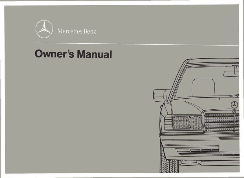Mercedes-Benz W201 English 1991 Owners Manual [2015847097]