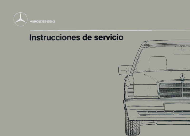 Mercedes-Benz W201 Spanish 1990 Owners Manual [2015844597]