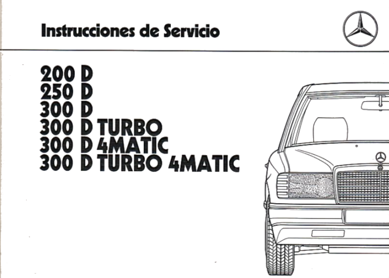 Mercedes-Benz W124 Spanish (Unknown) Owners Manual [1245844297]