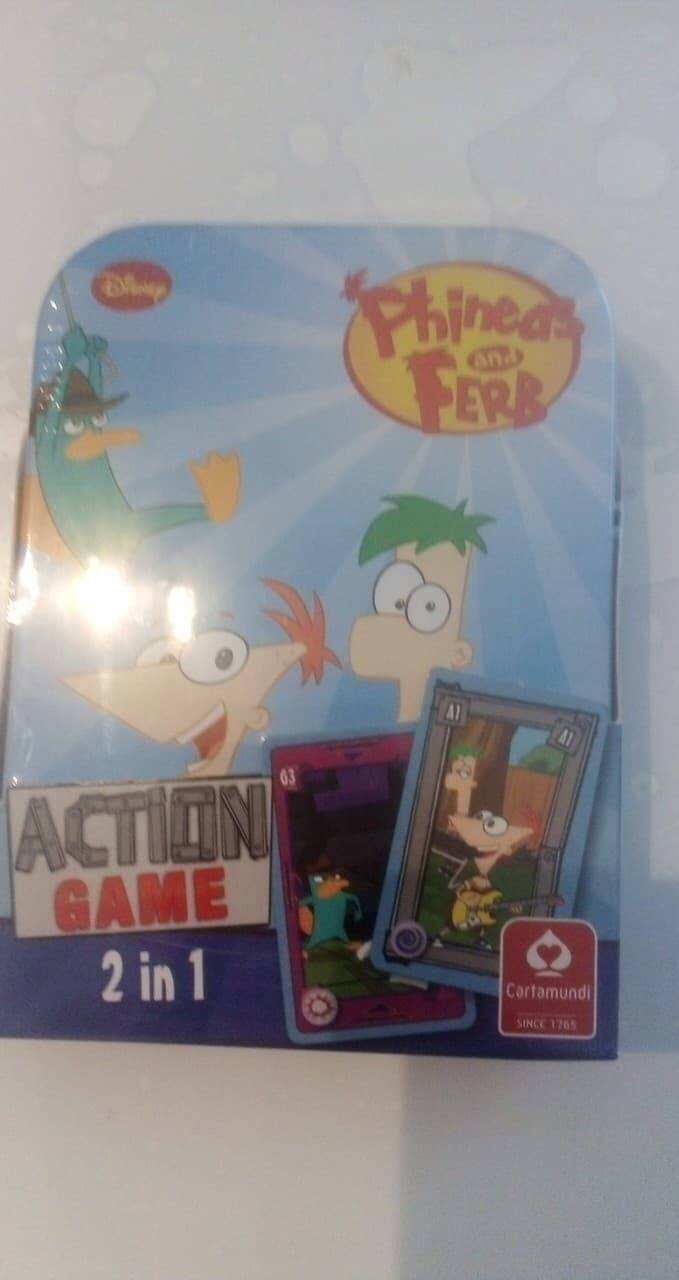 pocket spel  phineas and ferb 2 in 1 action game