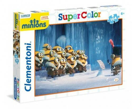 Clementoni Minions Super Color puzzel 104 delig 2 assorti