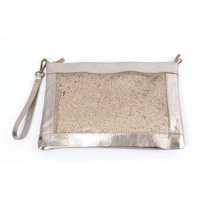 Clutch schubben goud(made in italy)
