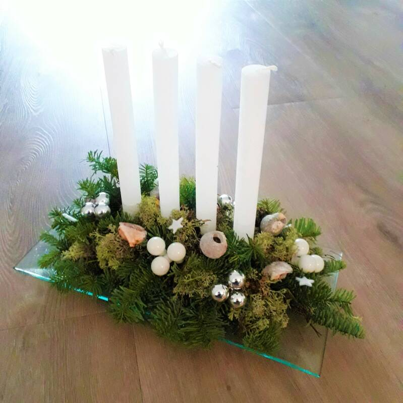 Kerststuk- Advent candle