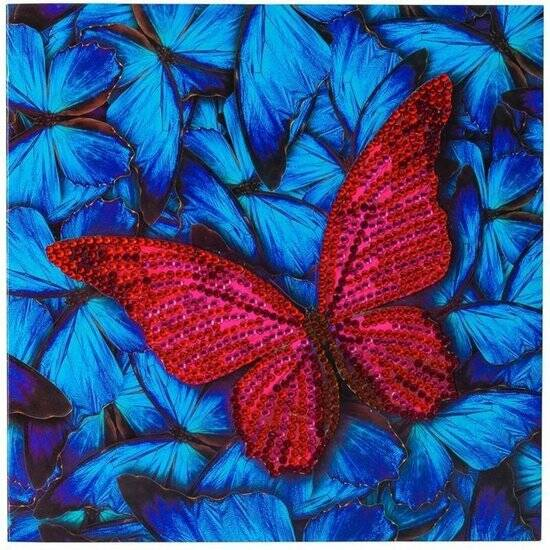 Crystal Card Kit, Butterfly (partial) 18 x 18 cm