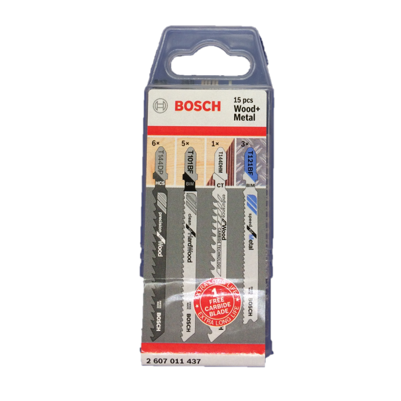 Bosch  Decoupeerzaagbladen Wood+Metal Pack 14+1