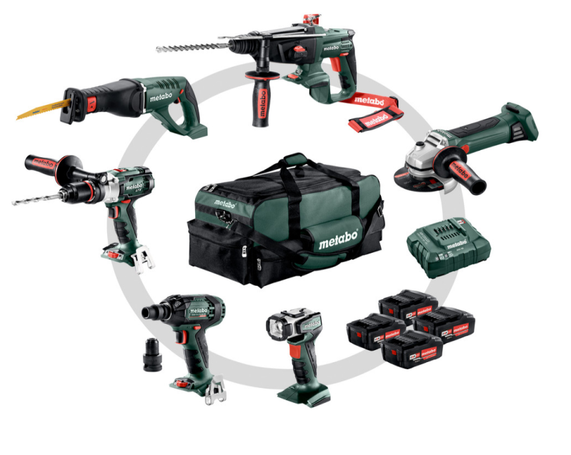 Metabo Combo Set 6.1 (691008000) Accu-machines in de set