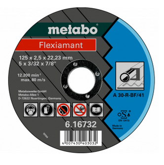 Metabo Flexiamant 125x2,5x22,23 staal, TF 41 (616732000)