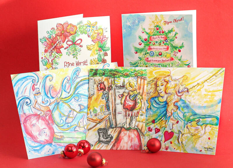 Combo Christmas cards! Set of 5