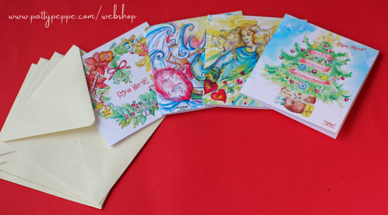The Best deal! 4 x Christmas Cards with envelopes! Assorted design!
