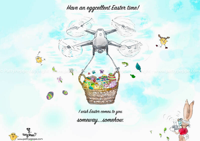 Easter Drone Delivery - A5 Print