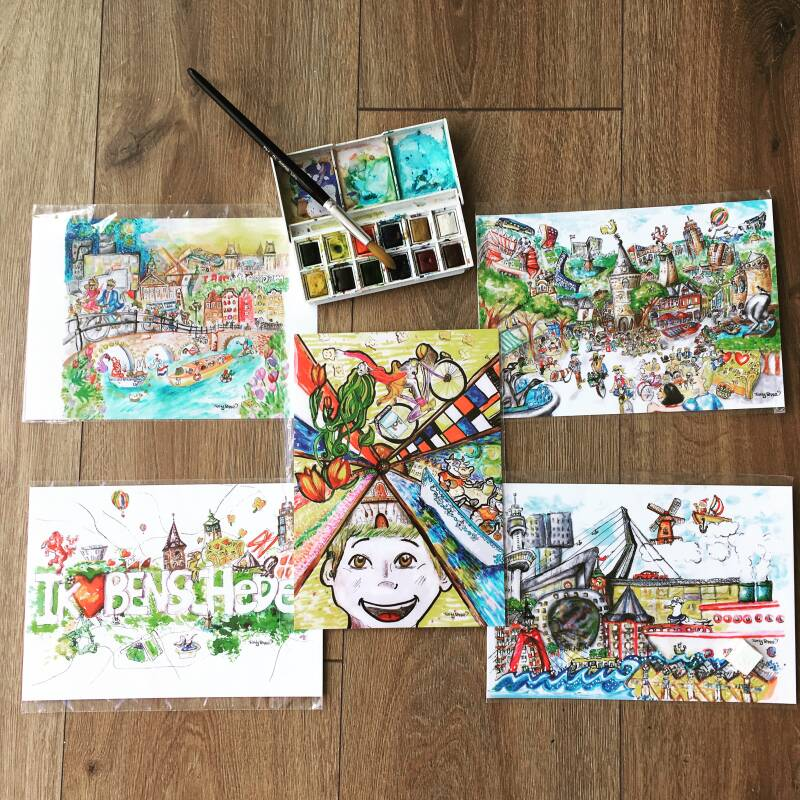 Dutch Cities Set  - A5 PostCards
