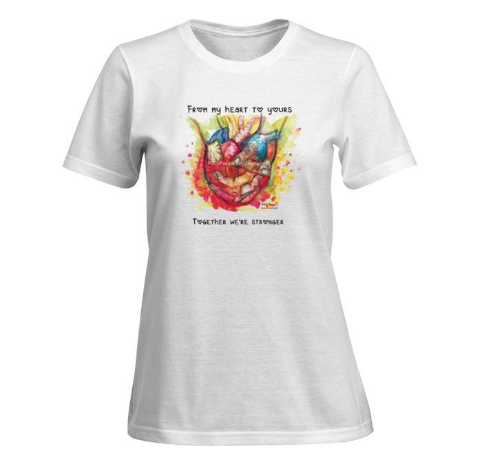 My heart to your - Ladies. t-shirt