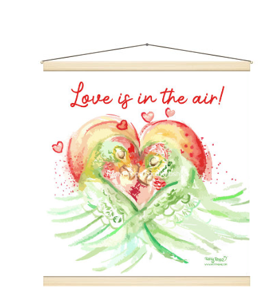 Love is in the Air! Retro canvas