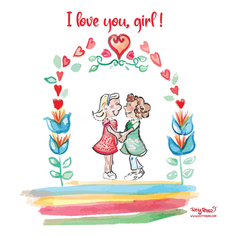 I love you, girl! - 280mmx140mm