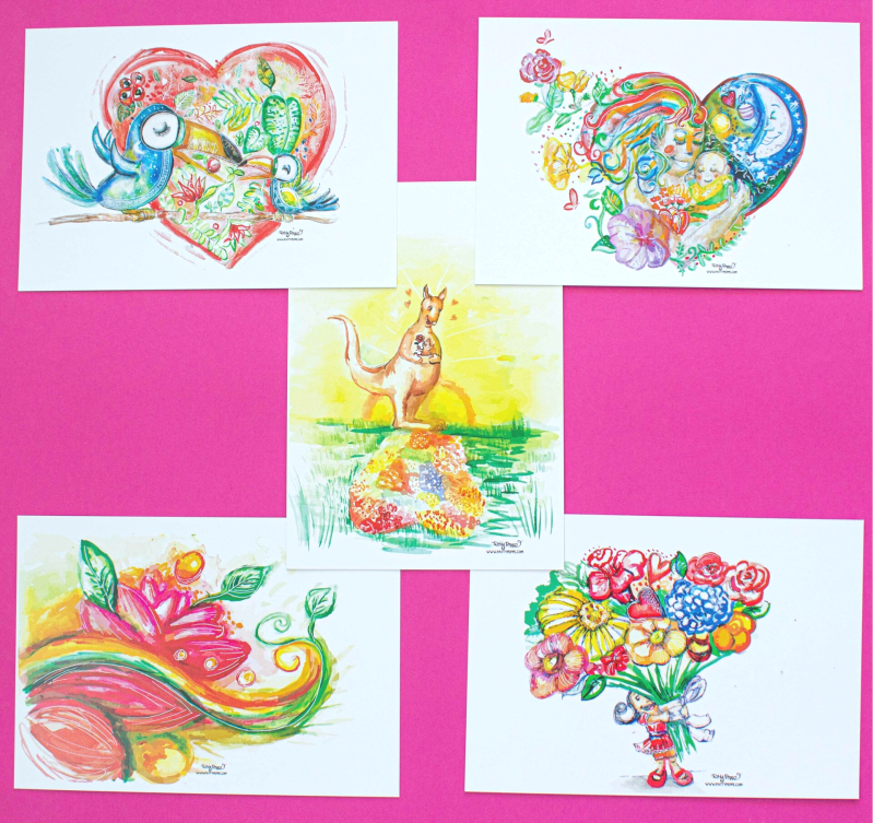 Set of 5  Mother's day Prints!