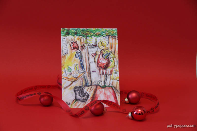 Santa Claus going on vacation! A6 PostCard