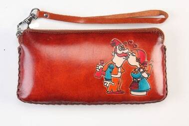 Leather Pencil case 20x8x6 CM