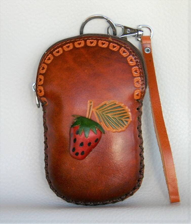 Leather case 14x10x3 CM ref 447720 br.