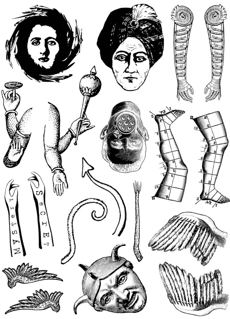 FASPL29 Plate 29 Art doll parts