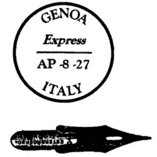 NS C4313 Postmark and pen