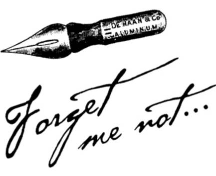 NS F4510 Forget me not + pen
